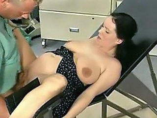 Pregnant chick pissed on by her doctory