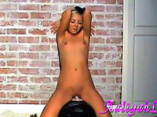 Aaliyah Love turning the sybian to full blast action