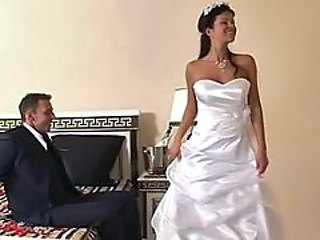 Bride gets fucked in her...