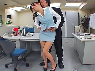 Japanese office sex. Pantyhose...