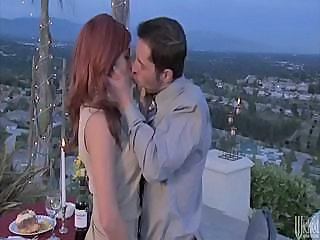 Romantic Dinner With Redhead Girl Kirsten Price