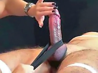He cums from the lightest kind of handjob