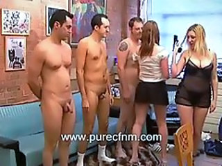 Strippers in small penis humilation CFNM