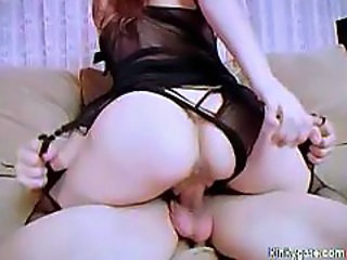 Teen sandy in stockings fucked to orgasm