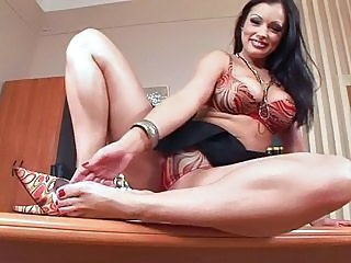 Big tits Aria Giovanni getting wet and hot on the office table