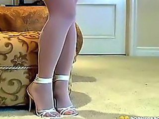 Mya Luanna White Stockings Tease