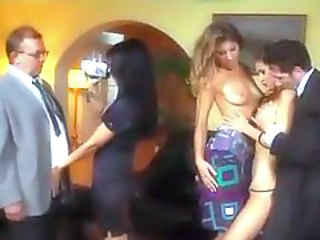 Lecherous swinger party in private: a hot foresome