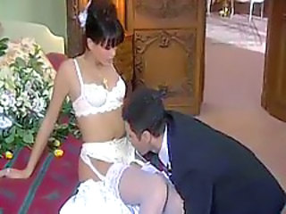 He has hot sex with his brand new bride