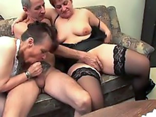 Horny grannies fucked by old man