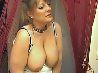 Busty mature lesbos making love
