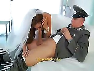 Melanie Rios brings home her soldier husband to fuck him crazy