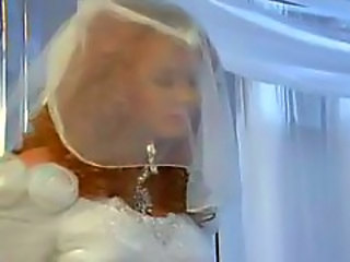 Beautiful redheaded bride fucked in the ass