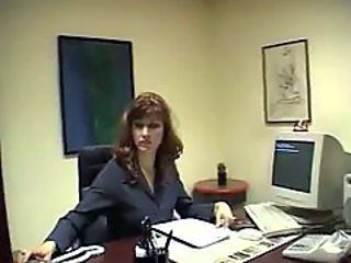 Sex with secretary on her working table