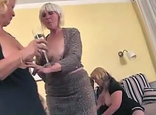 Grannies giving young guy a great time