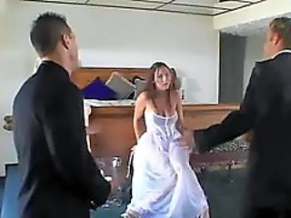 Bride Fucks Threesome By Jackass