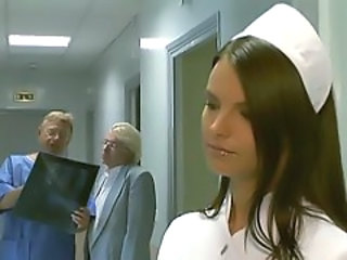 Axelle Parker - Stunning Blonde Nurse Blowjob Handjob Finish