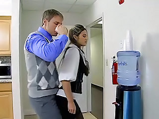 Office slut fuck in the toilet
