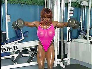 Sexy Muscled Bodybuilder Woman 3 - No Sound