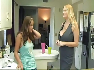 Busty Mature Lesbian Seduces Young Girl...