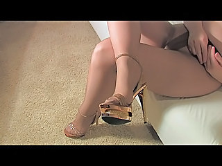 Wife In Pantyhose Cum On Feet Masturbation Squirt