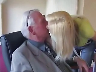 Teen swallow old cum