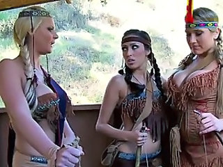 Alanah Rae Breanne Benson and Phoenix Marie In Great Thanksgiving Orgy