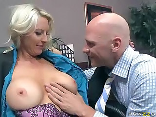 Busty office milf Emma Starr gets her tits and pussy eaten