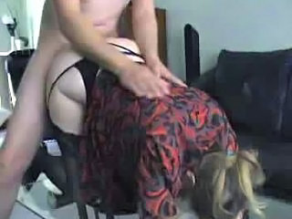 Chubby MILF Doggystyle Fucked With Panties On