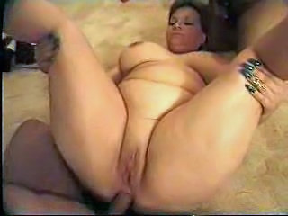 Busty Fat Mom Shared Between Cocks