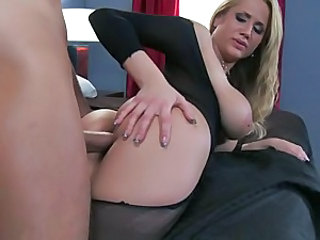 Alanah Rae blusty blonde like to catch the cum