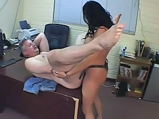 Busty Latina Dominatrix Fucks a Submissive Male with a Strapon