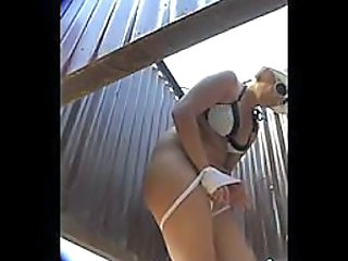 Hidden cam in beach cabin - 10