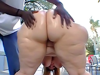 Big ass fat woman rides black dick
