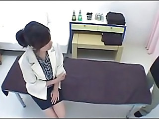 Hot Japanese massage girl fucked hard
