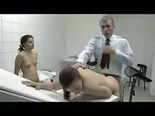 Doctor fucks schoolgirls in his exam room