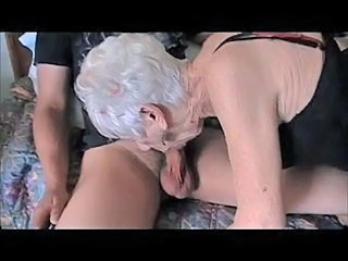 Old Gal Enjoys Young Cock