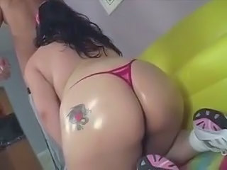 Asian BBW fucking her workout instructor