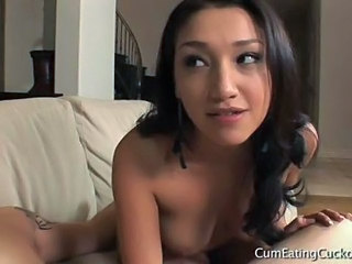Vicky Teaches Her Husband To Suck Cock
