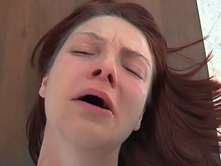Painful Desk Anal With Crying Redhead Schatz