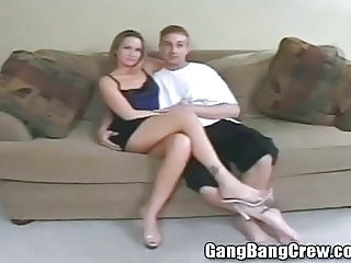 Hot Young Swinger Wife Getting Gang Banged