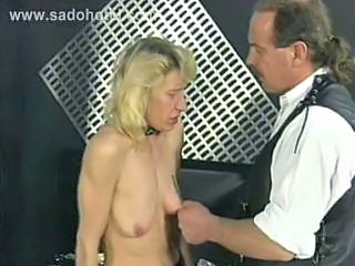 Skinny Slave Is Pulled On Her Nipples Spanked And Fu...
