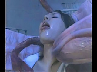 Horny Japanese stuffed with tentacles