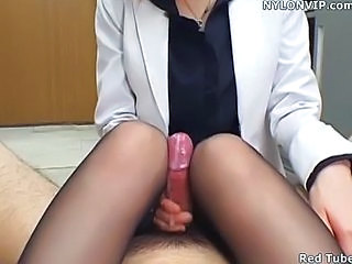 office lady handjob nylon foo...