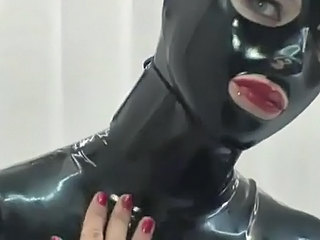 Latex Catsuit and Hood