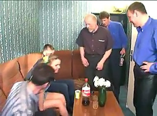 Father forced daughter fucks with his friends