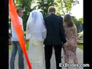 Brides Naughty in Public!