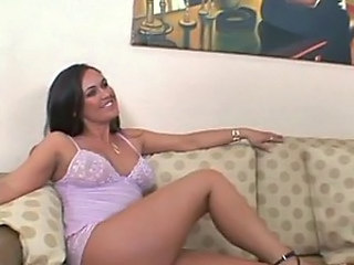 Busty Brunette MILF Alex Dane Sucks and Fucks Her BF's Big Cock