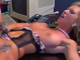Boss' Big Cock Fucking Brooke Banner's Pussy In The Office