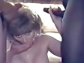 Blonde amateur sucks two dicks