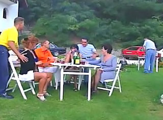 German Swinger Party im Garten